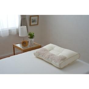 西川京都/日本製 頸椎支持型 高知産ひのきチップ入り 高さ自在枕