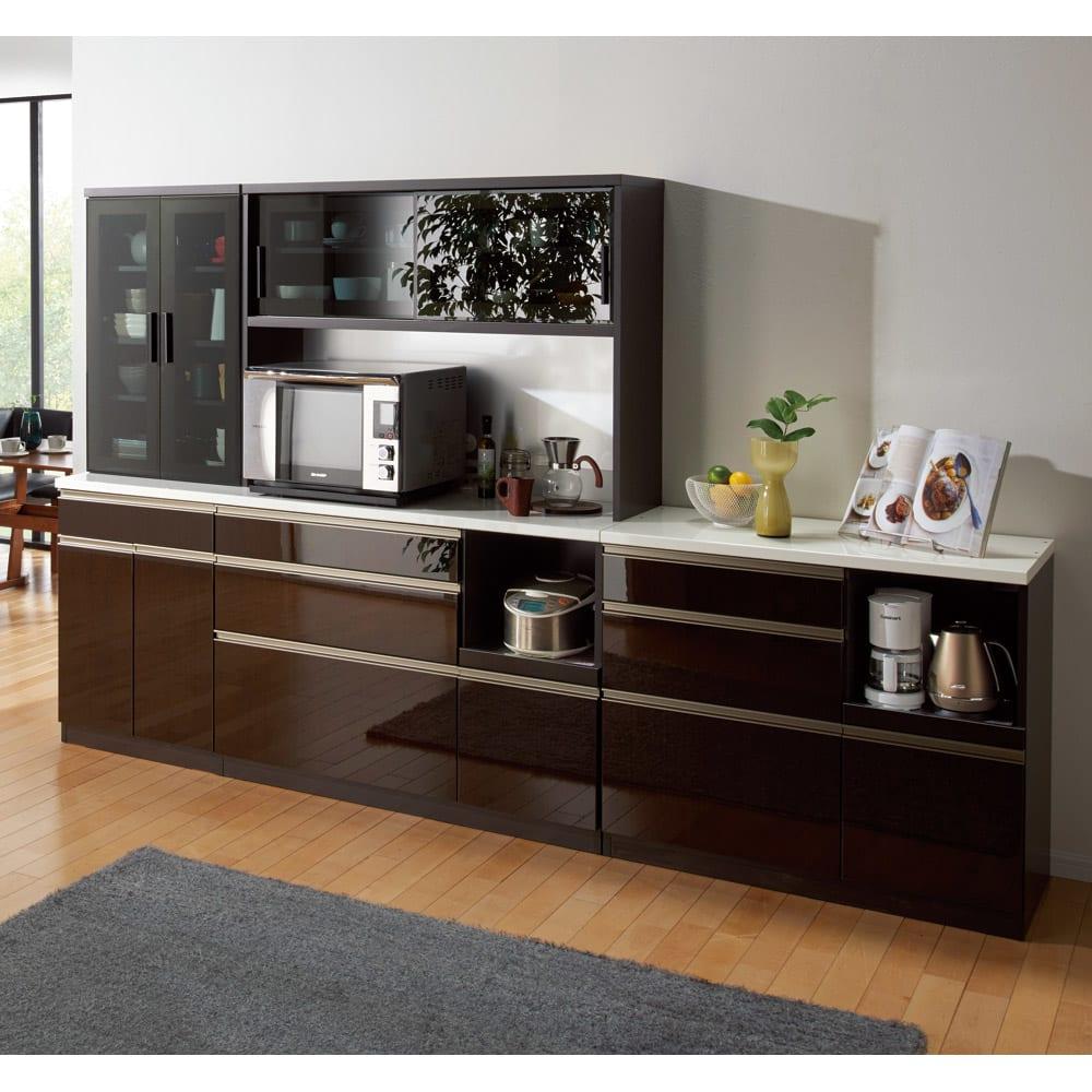 高機能 モダンシックキッチン キッチンカウンター 幅100奥行51高さ85cmのコーディネート