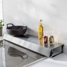 排気口カバーできるコンロ奥テーブル コンロ幅60cm用
