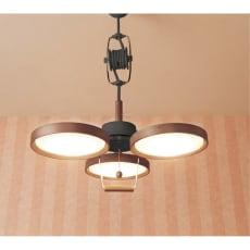 薄型LED 木製プーリーライト