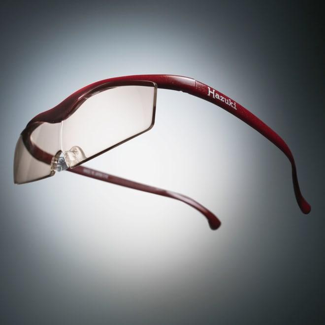 眼鏡型拡大鏡 ハズキルーペコンパクト1.6(ブルーライトカット55%) (ア)レッド!※フレーム色見本