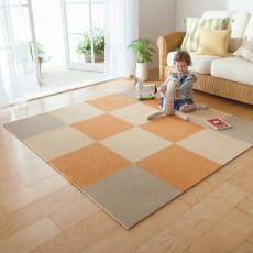 防炎洗えるタイルカーペット 1セット(同色10枚組)