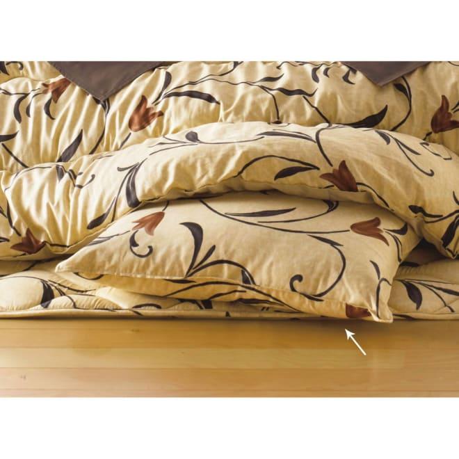 京都西川はっ水こたつシリーズ 座布団カバー(同色5枚組) 55×59cm (ア)イエローベージュ