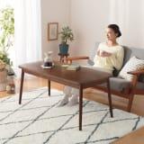 【3長方形】120×60cm 2段階に高さが変えられる 北欧こたつテーブル 写真