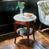 イタリア製大理石シリーズ サイドテーブル 写真
