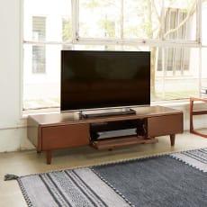 丸い角が優しいテレビ台 幅150cm