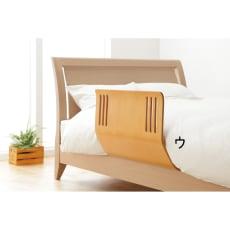 布団のずれを防止する木製ベッドガード