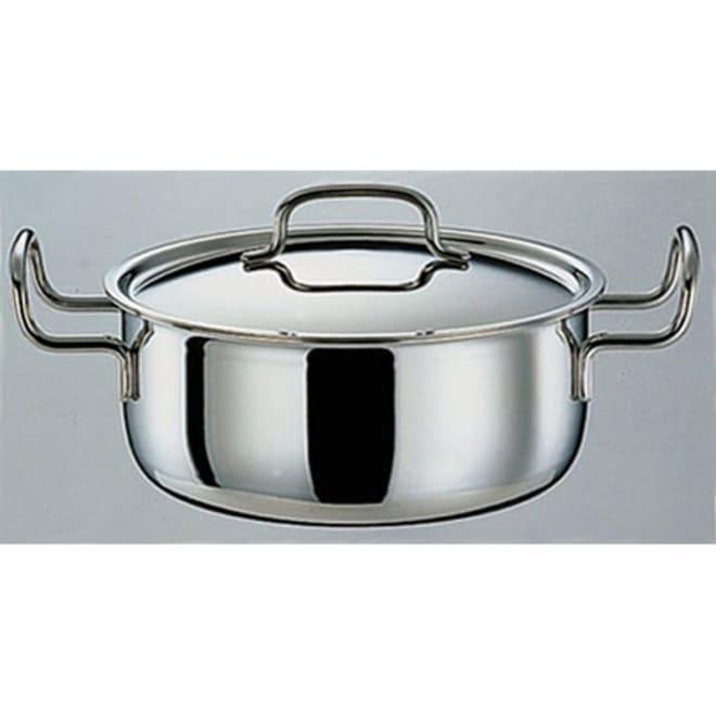 IH対応 服部先生のステンレス7層構造鍋「ジオ」 両手鍋径22cm