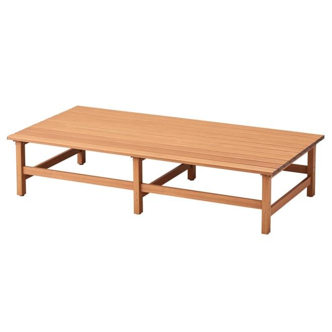 天然木調アルミデッキ縁台 デッキ幅180奥行90cm お届けの商品です。