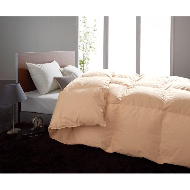 超長綿100%なめらか側生地に包まれた 5ツ星ラベルロイヤルゴールド羽毛 合掛け布団 あなたにぴったりの暖かさが見つかる!気密性の高い住宅におすすめ、合掛け布団 (イ)ブラウン