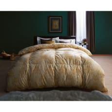 最高位ラベル取得ポーランド産マザーグースプレミアム羽毛布団 立体2層掛け布団