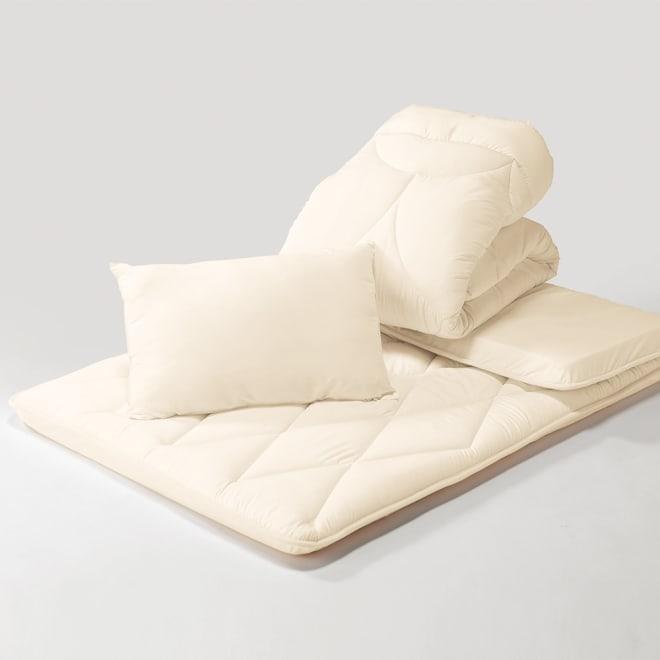 あったか洗える清潔寝具 お得な掛け布団+敷布団+枕 シングル3点セット お得な3点セット