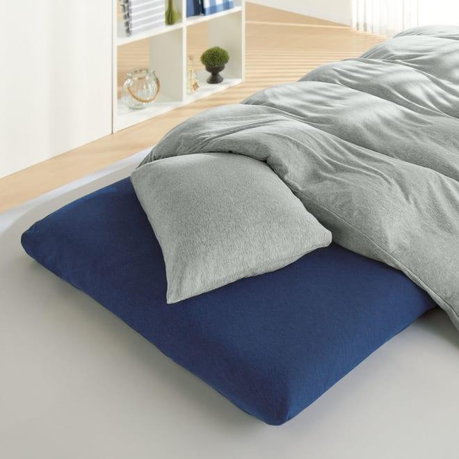 SIMPLE CONCEPT ソフトタッチ 枕カバー(同色2枚組) (イ)グレー
