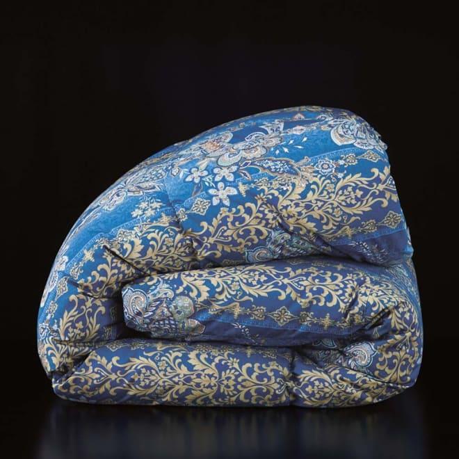 柄任せバーゲン寝具シリーズ 羽毛布団 (レギュラータイプ) シングルロング (イ)ブルー系 羽毛布団は2タイプから選べます。 レギュラータイプ(羽毛約1kg)