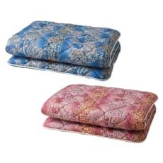 柄任せバーゲン寝具シリーズ 抗菌防臭・防ダニわた敷布団  2枚組