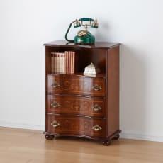 イタリア製象がん収納家具 ファックス・電話置き台幅58高さ78.5cm