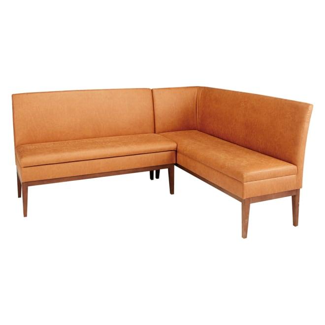 省スペースリビングダイニング お得なソファセット 右カウチ(右カウチ(座って右肘)+収納庫付きベンチソファ) (イ)ブラウン 場所をとらないコンパクト設計で、わずか1.5畳のスペースが食卓と憩いの場に。