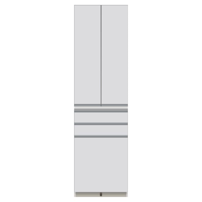 家電が使いやすいハイカウンター奥行50cm 食器棚高さ214cm幅60cm/パモウナCQ-600K お届けの商品はこちらになります。