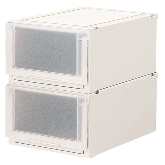 フィッツユニット(Fits unit)収納ケース2個組 【奥行55cmタイプ】幅40・高さ25cm プラスチック製収納ケースの定番といえばフィッツ。多様なサイズ展開と使いやすいさが評判です。