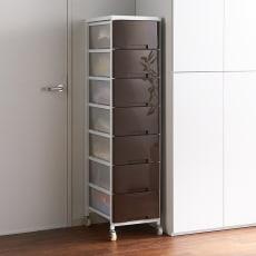 家族の衣類を一括収納 大量収納タワーチェスト 1列・7段タイプ