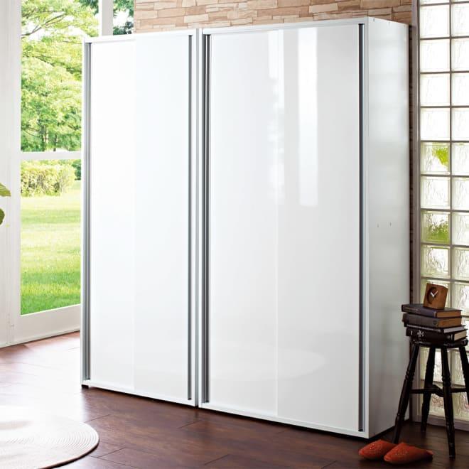 151723610f 大量玄関収納 引き戸シューズボックス 幅92cm コーディネート例(ア)ホワイト 狭い玄関