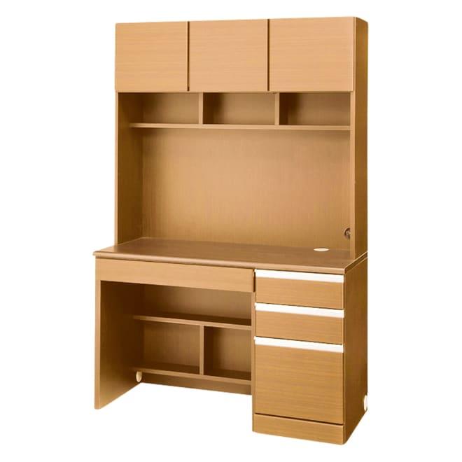 あこがれの書斎スペースを現実にする壁面収納 デスク上棚付き 右引き出し (イ)ナチュラル