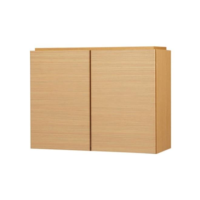 あこがれの書斎スペースを現実にする壁面収納 オーダー対応突っ張り式上置き(1cm単位) 幅78cm・高さ26~90cm (イ)ナチュラル