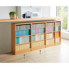 色とサイズが選べるオープン本棚 幅59.5cm高さ88.5cm