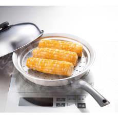 お鍋にのせて簡単蒸しプレート 蓋・トング付き