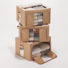 ワイヤー入り収納ボックス 3個組