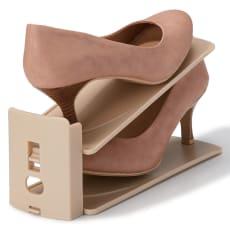 高さ調整可能 靴収納ホルダー12個組