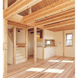 国産杉 頑丈オープンラック 奥行45.5cm 幅89cm 高さ179cm 建築材にも使われる丈夫さが魅力
