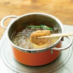vitacraft/ビタクラフト コロラド4点セット 片手鍋+両手鍋(浅型)+両手鍋(深型)+パンチングザル 揚げる 熱伝導率が高く、揚げ物も少量の油でカラッと仕上がります。
