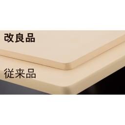プロも納得 抗菌力が持続するまな板パルト 軽量スクエア 最大44%軽量化! 厚さを1.3cmから0.8cmにし、軽量ミニは25%、軽量スクエアは33%、軽量コンパクトは44%軽量化しました。