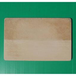 プロも納得 抗菌力が持続するまな板パルト 軽量ミニ 上が研磨前・下が研磨後の写真。付属の研磨シートでごしごし研磨すればきれいな面が現れます。