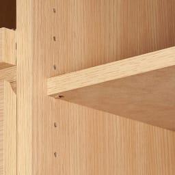 コンパクトキッチンワゴン 幅90cm 家電タイプ 棚は3cm間隔11段階で高さを調整できます。