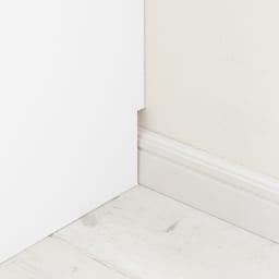 引き戸カウンター下収納庫 奥行29.5高さ70cmタイプ オープンラック・幅59.5cm 幅木よけ(8×1cm)付き