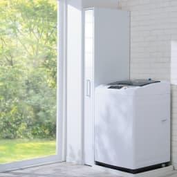 ボックス付きリバーシブル すき間収納庫 幅29奥行58cm 使わないときはボックスに収納。ホコリを防いで清潔にキープ。