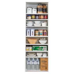 頑丈引き戸キッチンストッカー 幅61cm 収納イメージ