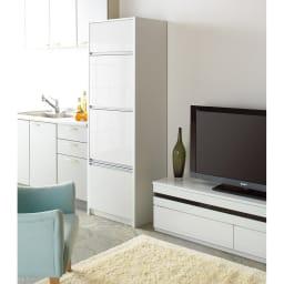 家電が隠せる!シンプル家電収納ストッカー 高さ150cm ※写真は高さ180cmタイプです。