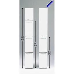 キッチンすき間収納 トールタイプダストボックス 2分別 シリーズにはトールタイプ3分別も用意しています。 狭いキッチンではスペースを縦に使う事が有効的です。