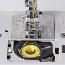 JANOME コンパクトミシン特別セット 【下糸装着がラク】 ボビンを入れて糸を掛ければ下糸のセット完了。