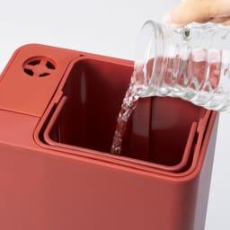 BRUNO ハイブリッドUV加湿器 開口部が広く、給水しやすい!