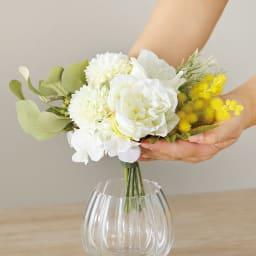 ローズのアレンジメントフラワー お得な2個組 花は取り外しOK。他の器に挿したり、ベースは生花用にも。