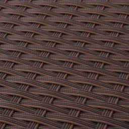 組立不要ラタン調ベンチ収納 幅120cm 植物と相性のよい、シックなラタン調のデザインです。