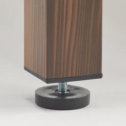 木目調アルミデッキ縁台 縁台 幅180cm 脚部には接地面とのガタつきを防ぐ、高さ調整アジャスターを装備しています。
