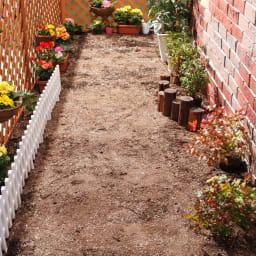 雑草が生えない天然石マット スクエア8枚組 雨の日にぬかるむ地面も。