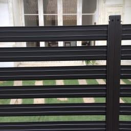 簡単リフォームアルミボーダーフェンス【ブラウン】 ハイタイプ高さ149幅90cm(1枚)