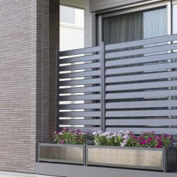 フェンス付プランター【ブラウン】幅90cmスーパーハイタイプ