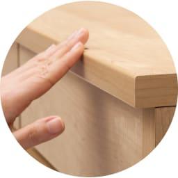 耐荷重100kg!収納庫付ベンチ ボックス・幅60奥行31cm ベンチの角は丸みがあり足あたりのよい仕上げ。